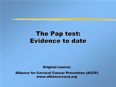 The Pap Test - Evidence to Date (2004) PDF 15