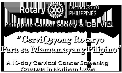 Cerviq syo Rotaryo Parasa mamayang Pilipino banner