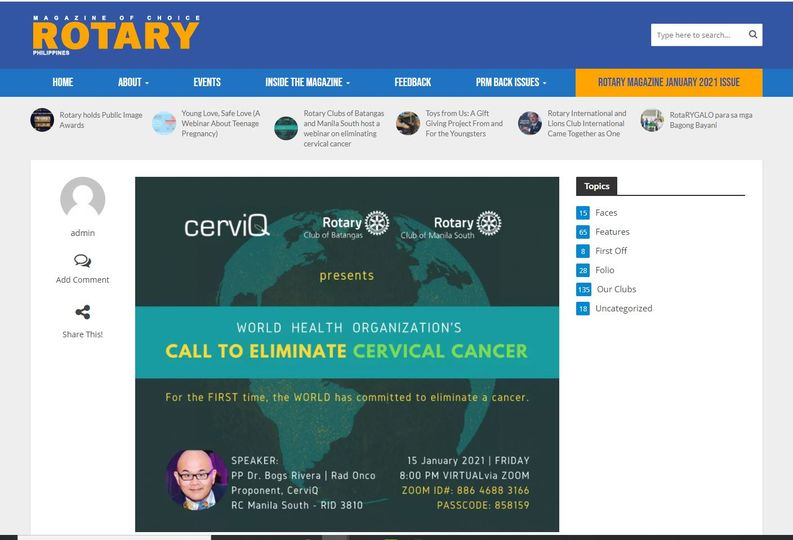 CERVICAL CANCER WEBINARS 2